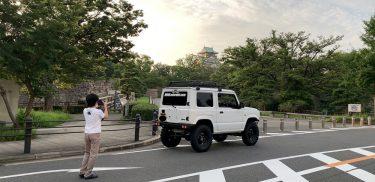 息子とジムニーで大阪城へ